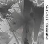dark grunge scratched dirty...   Shutterstock . vector #644741797