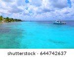 azure cyan calm tropical ocean...   Shutterstock . vector #644742637