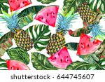 tropical vector illustration... | Shutterstock .eps vector #644745607