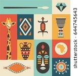africa  vector travel...   Shutterstock .eps vector #644745643