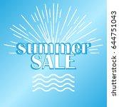 summer sale banner  summer sale ...   Shutterstock .eps vector #644751043
