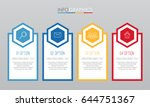 modern info graphic template... | Shutterstock .eps vector #644751367