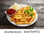 French Fries With Tomato Sauce...