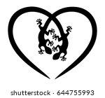 gecko  lizard  heart   Shutterstock .eps vector #644755993