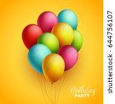 birthday background. vector... | Shutterstock .eps vector #644756107
