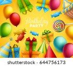 birthday background. vector... | Shutterstock .eps vector #644756173
