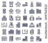 apartment icons set. set of 36... | Shutterstock .eps vector #644763313