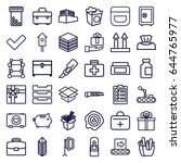 box icons set. set of 36 box... | Shutterstock .eps vector #644765977