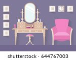 design of a female boudoir.... | Shutterstock .eps vector #644767003