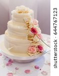 beautiful and delicious wedding ... | Shutterstock . vector #644767123
