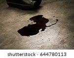 old black oil lubrication... | Shutterstock . vector #644780113