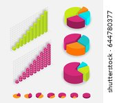 isometric charts percentage ... | Shutterstock .eps vector #644780377