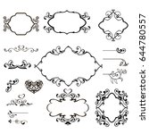 vector flourish vintage...   Shutterstock .eps vector #644780557