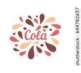 cola color splash juice...   Shutterstock .eps vector #644782657