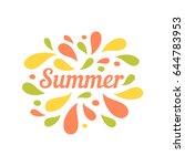 summer bright color drops...   Shutterstock .eps vector #644783953