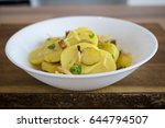 photo of a german potato salad. | Shutterstock . vector #644794507