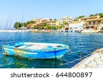 panorama of kassiopi  town in... | Shutterstock . vector #644800897