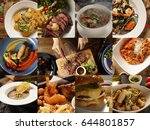 foods different countries.... | Shutterstock . vector #644801857