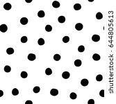 black and white seamless...   Shutterstock .eps vector #644805613