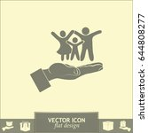 family life insurance sign icon.... | Shutterstock .eps vector #644808277
