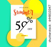 summer selling ad banner ...   Shutterstock .eps vector #644810347