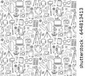 blog object seamless pattern.... | Shutterstock .eps vector #644813413