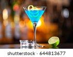 closeup glass of pacific ocean... | Shutterstock . vector #644813677