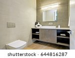 contemporary bathroom interior... | Shutterstock . vector #644816287