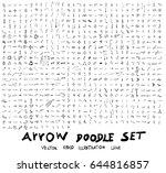 vector hand drawn arrows set   Shutterstock .eps vector #644816857