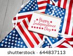 happy fourth of july usa flag | Shutterstock . vector #644837113