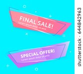 sale web banners template for... | Shutterstock .eps vector #644842963