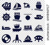 ship icons set. set of 16 ship... | Shutterstock .eps vector #644846917