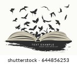 Flying Birds From An Open Book...
