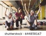 senior couple in rehabilitation ... | Shutterstock . vector #644858167