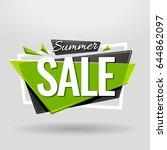 summer sale geometric banner... | Shutterstock .eps vector #644862097