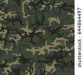 green camouflage pattern... | Shutterstock .eps vector #644864497