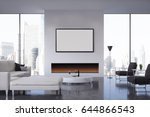 front view of a living room... | Shutterstock . vector #644866543