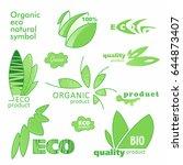 farm badge set of fresh organic ... | Shutterstock .eps vector #644873407
