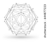 Abstract Wireframe Polygonal...