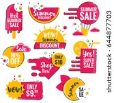 collection of sale discount... | Shutterstock .eps vector #644877703