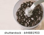 coffee beans in jar | Shutterstock . vector #644881903