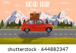 web banner on the theme of road ... | Shutterstock .eps vector #644882347