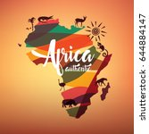 Africa Travel Map  Decorative...