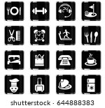 hotel service web icons for... | Shutterstock .eps vector #644888383