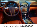 luxury car interior | Shutterstock . vector #644894863