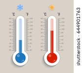 glass thermometer with scale... | Shutterstock .eps vector #644901763