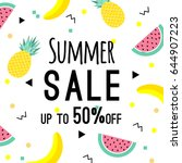 summer sale design template.... | Shutterstock .eps vector #644907223