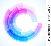 geometric frame from circles ... | Shutterstock .eps vector #644913637