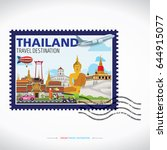 bangkok  thailand vector travel ... | Shutterstock .eps vector #644915077