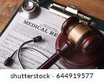 stethoscope and judgement... | Shutterstock . vector #644919577